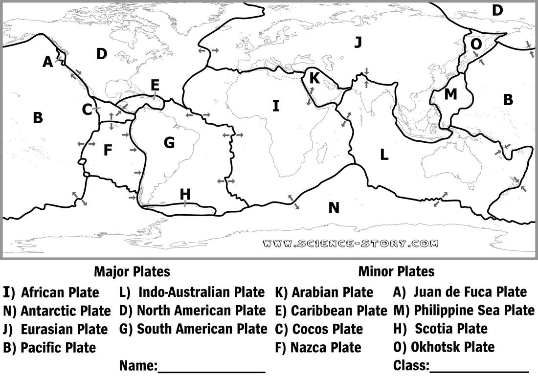 Plate Tectonics Map Worksheet – Plate Tectonics Worksheet